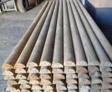 Штакетник деревянный, полукруглый 2600мм